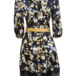 floral dress with yellow belt1