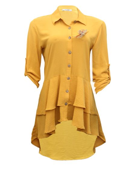 yellow highlow blouse