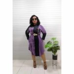 purple and black shirt dress