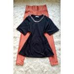 black and orange combo